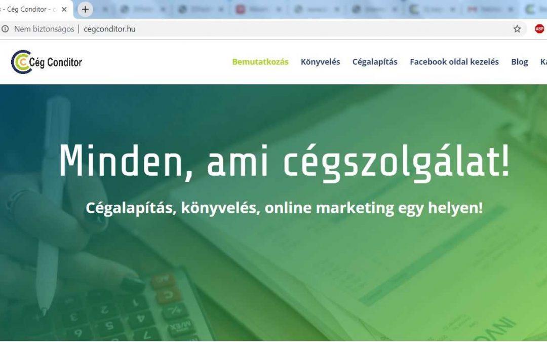 Bemutatkozó weboldal készítése vállalkozóknak